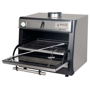 CBQ-060/BK Charcoal Oven Black