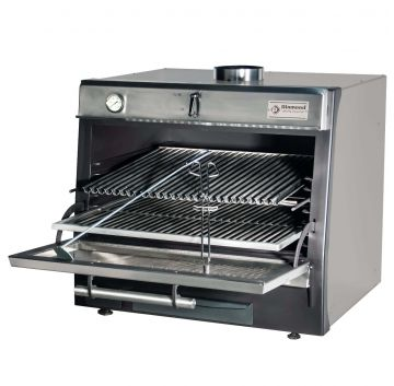 CBQ-075/BK Charcoal Oven Black