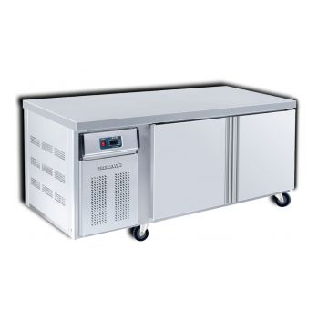 Dual Counter Chiller Freezer 2 Door 1500 Front View
