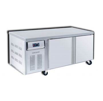 Dual Counter Chiller Freezer 2 Door 1800 Front View