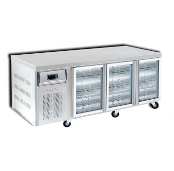 3 Door 2100 Bar Chiller Front View