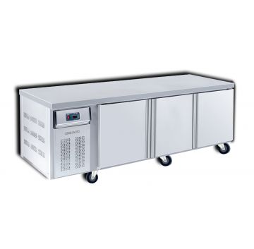 Dual Counter Chiller Freezer 3 Door 2100 Front View