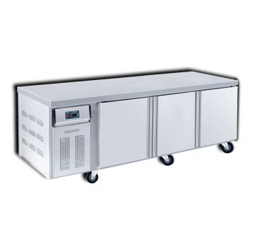 Dual Counter Chiller Freezer 3 Door 2400 Front View