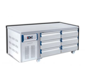 6 Drawer Counter Chiller Front View