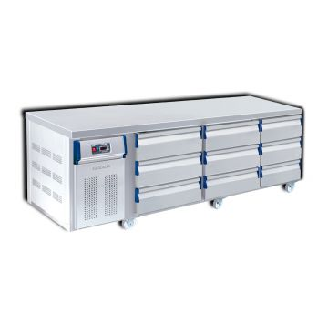 9 Drawer Counter Chiller Front View