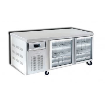 2 Door 1500 Back Bar Chiller Front View