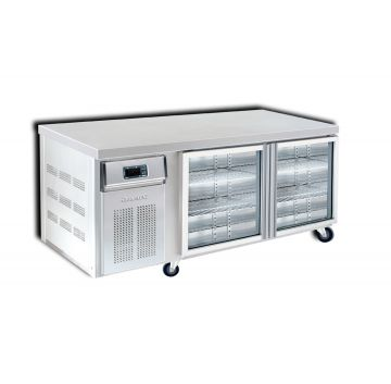 2 Door 1800 Back Bar Chiller Front View