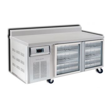 2 Door 1500 Bar Chiller with Splashback Front View