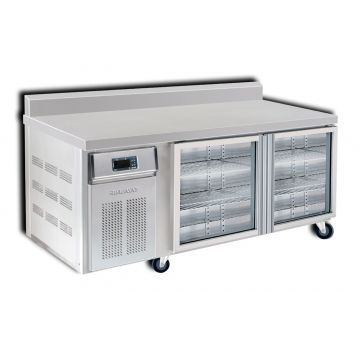 2 Door 1800 Bar Chiller with Splashback Front View