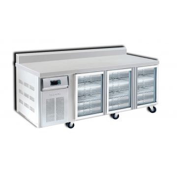 3 Door 2100 Bar Chiller with Splashback Front View