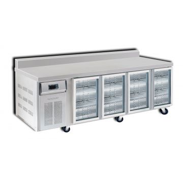 4 Door 2400 Bar Chiller with Splashback Front View