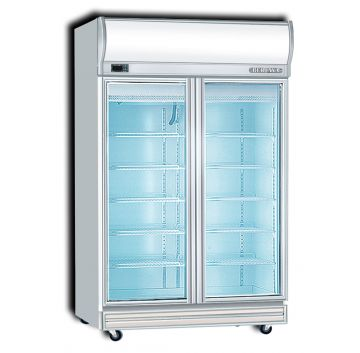 Upright Display Freezer 2 Door Front View