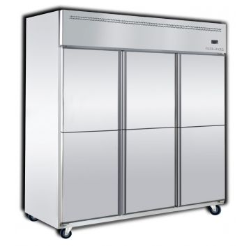 Upright 4 Door Chiller 2 Door Freezer Front View