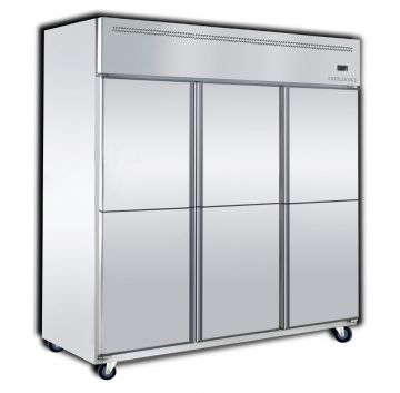 Upright 2 Door Chiller 4 Door Freezer Front View
