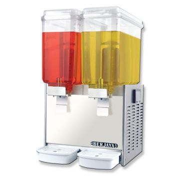 Juice Dispenser Dual Bowl Front View