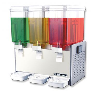 Juice Dispenser Triple Bowl Front View