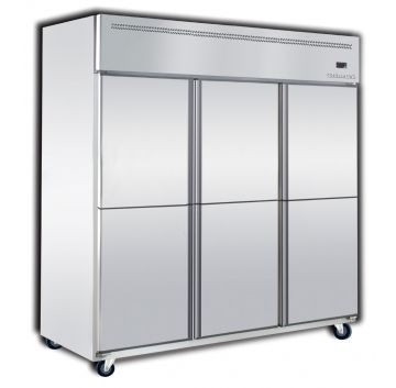 Upright Chiller 6 Door Front View