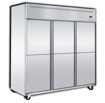 Upright Freezer 6 Door Front View